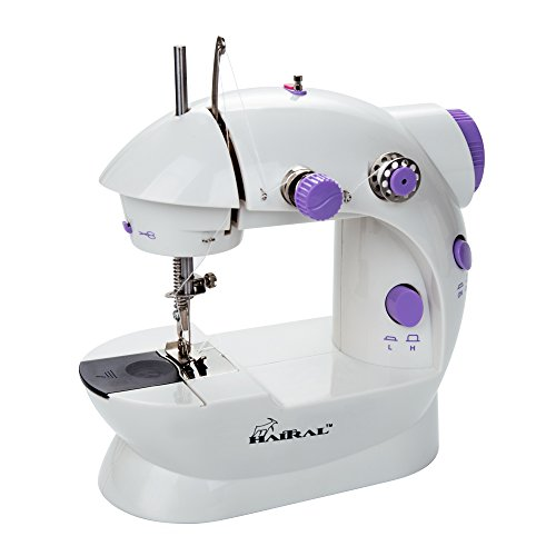 Mini Sewing Machine, Portable Electric Mini Sewing Machine with 2-Speed Control,Double-Thread,Sewing Light,Thread Cutter,Foot Pedal