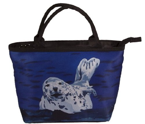 Seal Small Purse, Vegan Handbag - Animal Prints From My Original Paintings - Perfect for Young Girls (Seal - Playful Pup) - Playful Seal