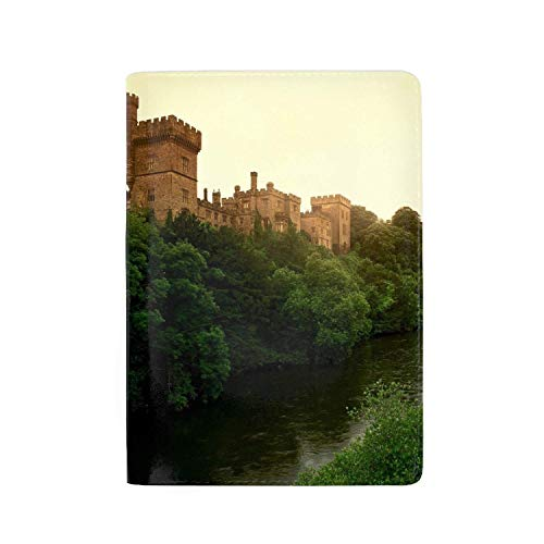 Ireland Lismore Castle - KOiomho Passport Holder Travel Wallet Blocking PU Leather Card Case Cover, Lismore Castle County Waterford Ireland 5.5 inch