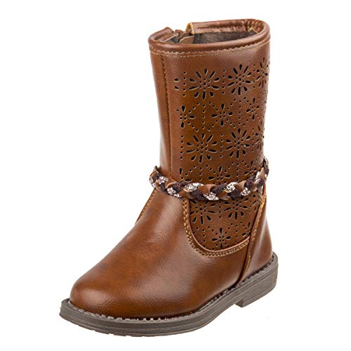 Laura Ashely Girls Woven Calf Length Riding Boot (Toddler, Little Kid) (9 M US Toddler, Brown Rope)' ()