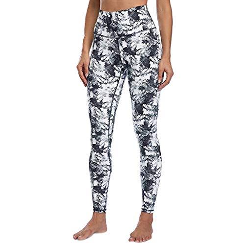 Eaktool Yoga Pants for Women,Women Leggings Fitness Sports Gym Running Slim Tight Yoga Athletic Pants Blue