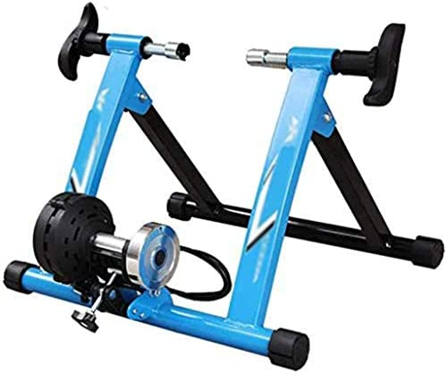 DPPAN 屋内スポーツバイクトレーニングプラットフォーム スチール自転車 バイクトレーナースタンド ノイズリダクションホイール付き 屋内トレーナー運動マシンは一年中乗ります Blue 注目ブランド  格安 価格でご提供いたします 調整可能