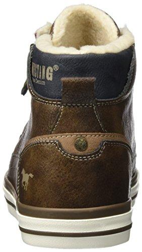 Uomo Collo Sneaker Marrone 4072 Alto Mittelbraun a Mustang 601 360 ZPAanq0wg