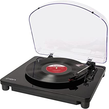 ION Audio Classic LP - Plato giradiscos con convertidor, reproduce discos de vinilo de 33 1/3, 45 y 78 RPM