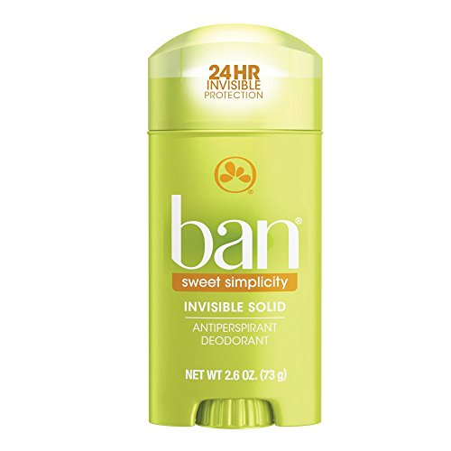 Ban Antiperspirant Deodorant, Invisible Solid, Sweet Simplicity, 2.6 - Men Ban For