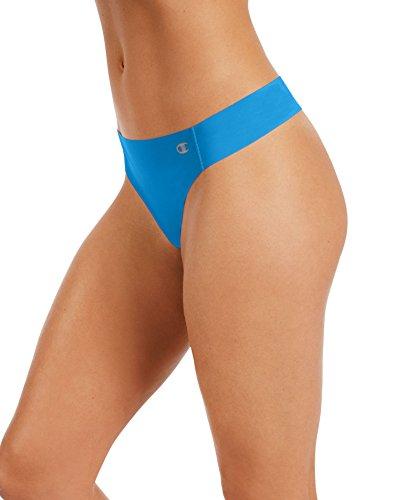 Champion Women's Champion Performance Laser Ccut Thong Underwear, -hydro, Large