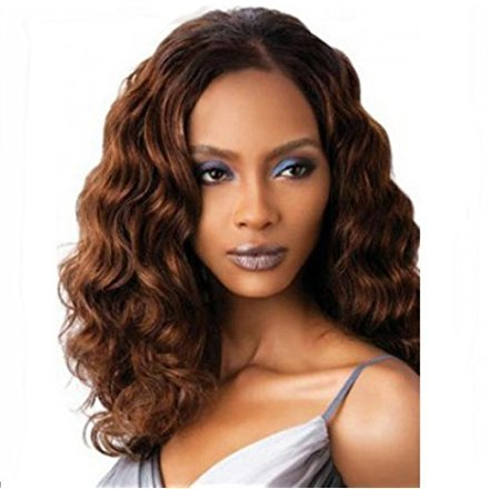Fashion Overhead Brazilian Hair with Side Bangs Curly Mix...