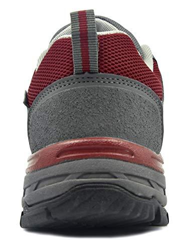 Passeggio Grigio Trekking Leggere E Escursionismo Tecnica Antiscivolo Impermeabili Da Donna Camminata rosso Scarpe Multifunzione Knixmax TOw4xYHqSc