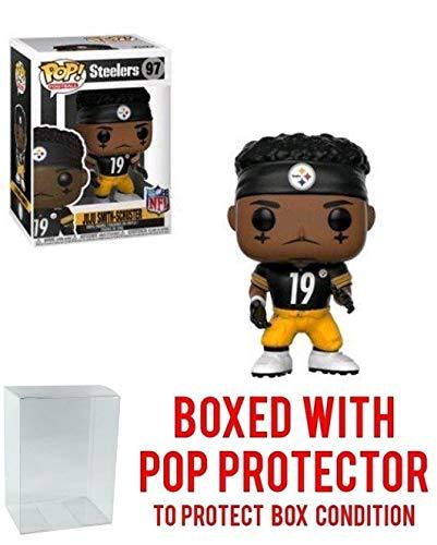 Pop! NFL: Juju Smith-Schuster Pittsburgh Steelers Home Jersey Vinyl Figure (Bundled with Pop Protector)