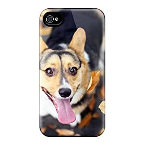iphone covers fashion case Fashionable Style case cover Skin For Iphone 2YzufLfV2o8 4/4s- Happy Welsh Corgi