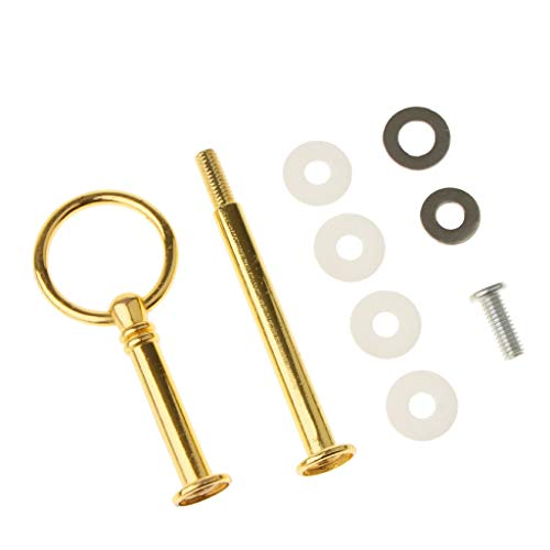 LOVIVER 1Set Metal 2 Tier Party Wedding Cupcake Fruit Heavy Plate Stand Centre Handle Fittings Round Drill Round Hardware Rod - Gold by LOVIVER (Image #8)