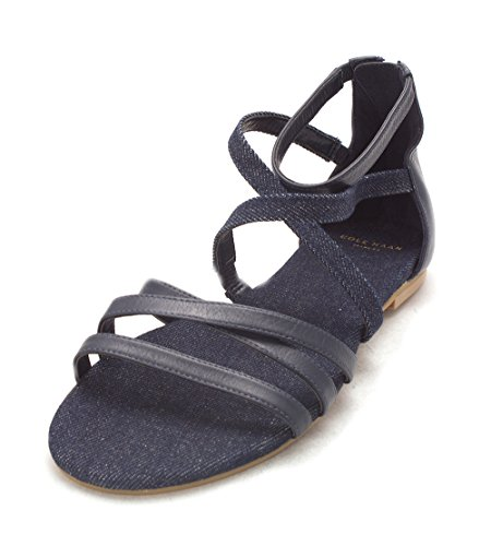 Cole Haan Womens Aliviasam Open Toe Casual Strappy Sandals Blue Denim egouNsA4V