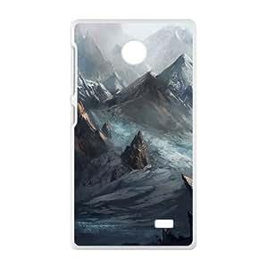 Mountains White Phone Case for Nokia Lumia X
