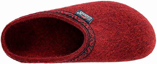 Firebrick with Stegmann Women's Felt Cork Sole Clog Wool I0HHPaxqwO