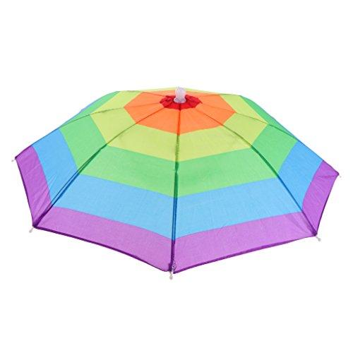 十分コンデンサー写真を描くFityle 折りたたみ可能 サンシェード ヘッドウェア 傘帽子 雨キャンプ フィッシング ハイキング アウトドアスポーツ用 全4スタイル