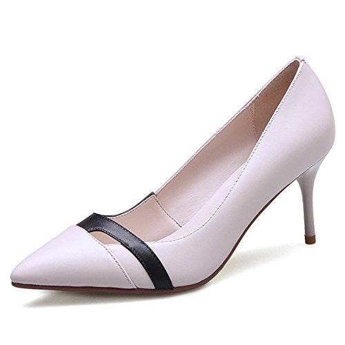Verano Zapatos De Tacón Altos/Zapatos De Tacón Medio/Zapatos Atractivos Del Estudiante Del Trabajo/Asakuchi Señaló Zapatos A