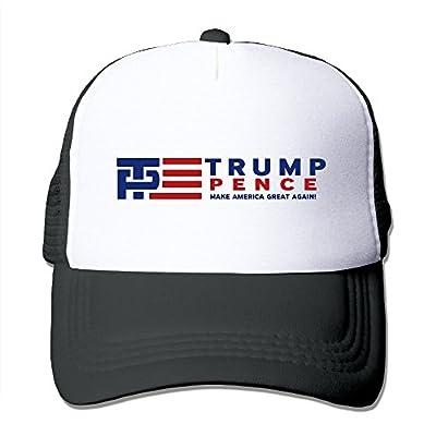 Men Women Adjustable Trump Pence Trucker Cap Youth Mesh Hat