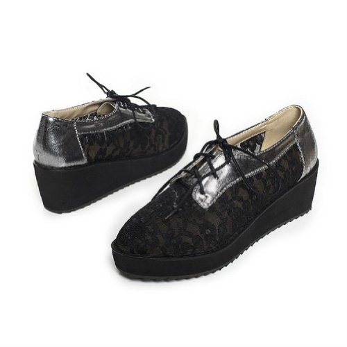 Brand New Fashion Hollow Out Womens Wedge Heels Platform Shoes Black mxHbh