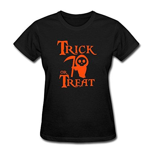 Halloween Trick Or Treat Womens Short Sleeve Tee-shirt By Hapman1]()