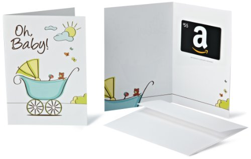 Amazon.com $55 Gift Card in a Greeting Card (Oh, Baby! Design)