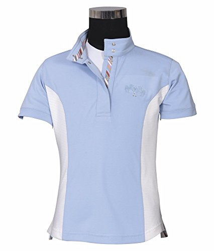 Equine Couture Children's Cara Short Sleeve Show Shirt | Color - KL Babyblue | Size - X-Large