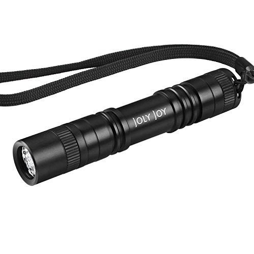 Joly Joy Linterna LED, Ultra Pequeño Lámpara LED Antorcha Ideal para Aire Libre Ciclismo,Camping, Montañismo (Negro-06)