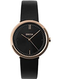 Women's 'Agnes' 1733b Rose Gold and Black Leather Strap Watch, 34MM