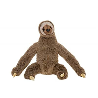 Set Of 2 Lifelike Handcrafted Extra Soft Plush Three-Toed Sloth Stuffed Animals 13.25&Quot; - 3, Months