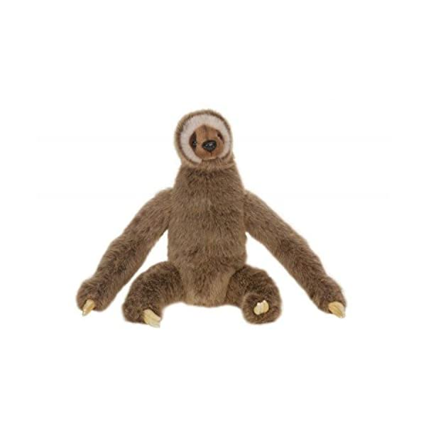Set Of 2 Lifelike Handcrafted Extra Soft Plush Three-Toed Sloth Stuffed Animals 13.25&Quot; -