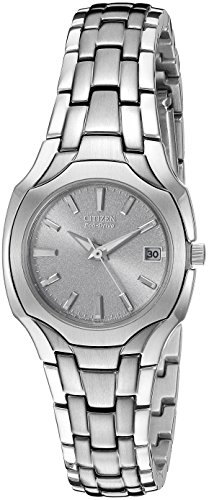 (Citizen Women's Eco-Drive Stainless Steel Watch with Date, EW1250-54A)