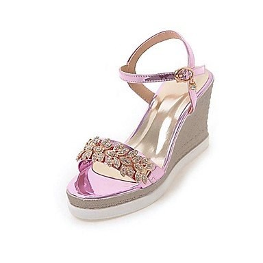 LvYuan Mujer Sandalias Zapatos formales Semicuero Primavera/Otoño Verano Casual Vestido Fiesta y Noche Zapatos formales Pedrería Tacón Cuña screen color