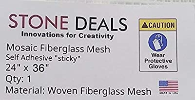 "Stone Deals Mosaic Mesh for Back Mounted Tile 24"" x 36"" Sticky Mesh"
