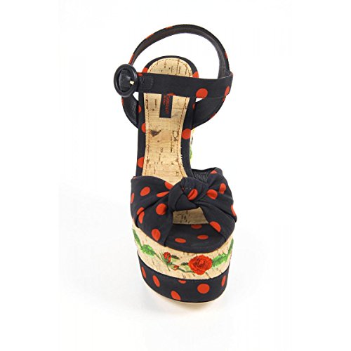 Tejido Dolce Mujer Cuñas Negro amp;Gabbana C18934AF3448U938 Negro CwI7q