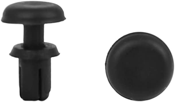 50 x Black Large Flange Plastic Rivets Car Trim Panel Plastic Clips FIX211