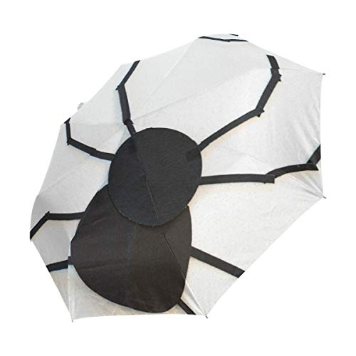 imobaby Lets Fete Halloween Spider Backdrop 3 Folds Auto Open Close Umbrella, Compact Windproof Portable Durability Travel Rain Umbrella Easy -