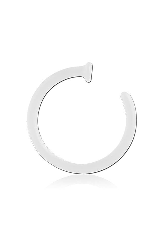 Bioflex Open Nose Ring Hoop Choose Your Color, Choose Your Size 18G Nose Ring Bling