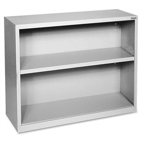 Lorell LLR41280 Fortress Series Steel Book Case, Light Gray - Series Metal Bookcases