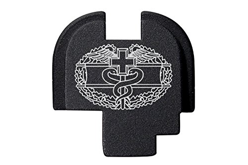 Billet Badge (NDZ Performance Combat Medical Badge Outline Engraved Rear Back Plate for Springfield Armory XDs 9mm .40 .45acp -Single Stack ONLY)