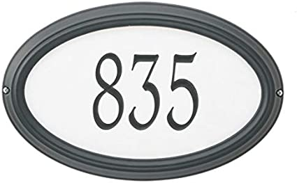 Whitehall Custom Concord Oval Estate Wall Reflective Address Plaque 21 W X 13 H 1 Line Garden Outdoor