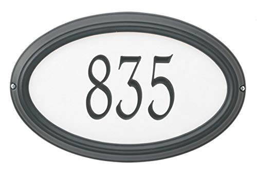 Whitehall Custom Concord Oval Estate Wall Reflective Address Plaque 21