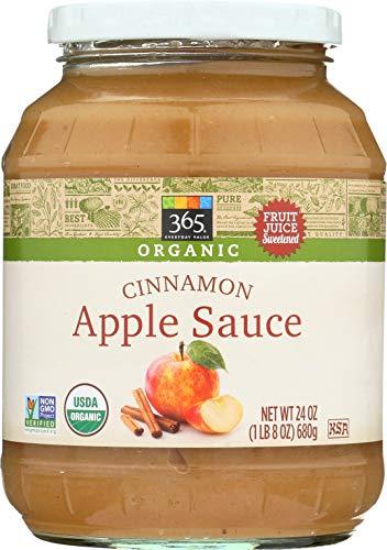 - 365 Everyday Value, Organic Apple Sauce, Cinnamon, 24 oz