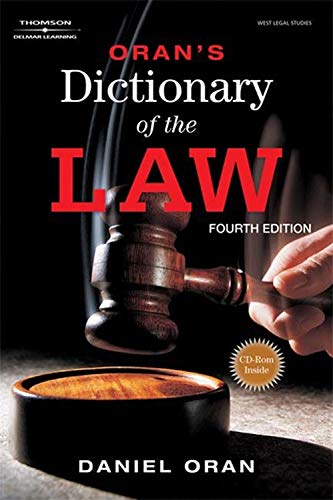 Oran's Dictionary Of The Law  West Legal Studies