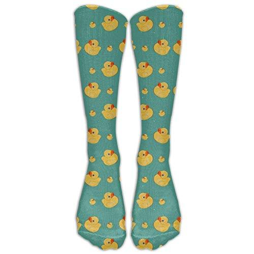 Cute Dcks Funny Ducks Costume Cosply Socks Halloween Funny Champion Athletic Leggings Knee High Stockings