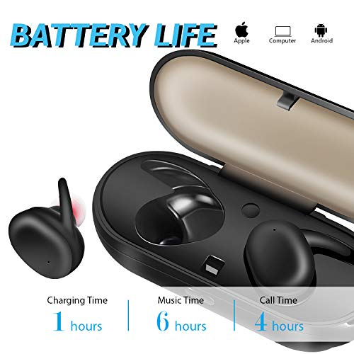 Bluetooth Earbuds, LEWUJIANG Touch Control True Earphone Headphones Wireless Sport Earbud with 3D Stereo Surround Super Bass Noise Cancellation Headsets TWS Earphones