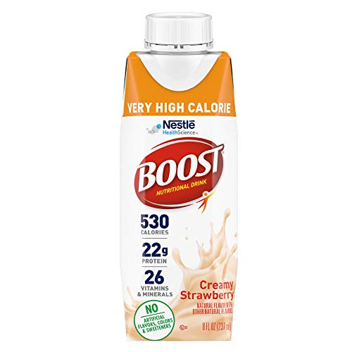 Boost Very High Calorie Nutritional Drink, Strawberry, 24 Count
