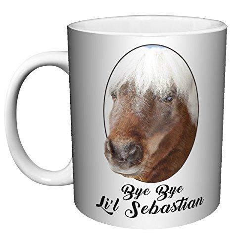 Parks and Recreation Bye Bye Li'l Lil Sebastian Workplace Comedy TV Television Show Ceramic Gift Coffee (Tea, Cocoa) (11 oz C Handle Ceramic Mug) (11 oz C HANDLE CERAMIC MUG)