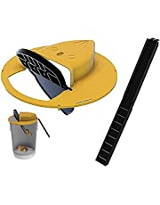 ULTIMATETRAPS Flip N' Drop Mouse Trap - Bucket Lid Mouse or Small Rat Trap Humane or Lethal Reusable, Auto Reset, Indoor and Outdoor, 5 Gallon Bucket Compatible, Mice Slide into Bucket