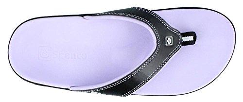 Spenco Women's Yumi Sandal, Onyx, 8 W Nightlight Plum