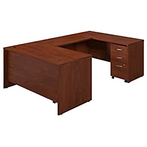 Amazon.com: Bush muebles serie C Elite 60 W x 30d U-station ...