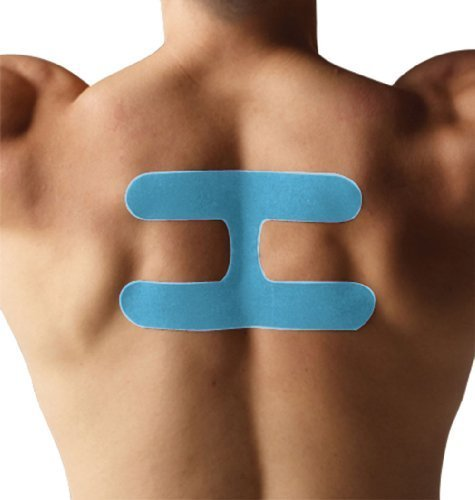 SpiderTech Precut Postural Therapeutic Kinesiology Tape (Blue) by Spider Tech